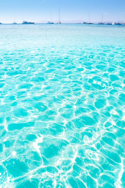 Niebieski turkus Ripple wody plaży krajobraz Zdjęcia stock © lunamarina