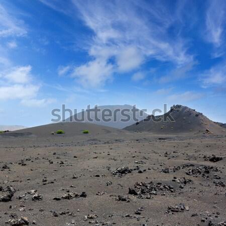 Lanzarote Timanfaya Fire Mountains volcanic lava Stock photo © lunamarina