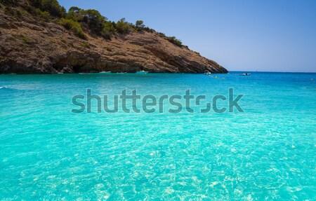 Praia canárias céu água natureza paisagem Foto stock © lunamarina