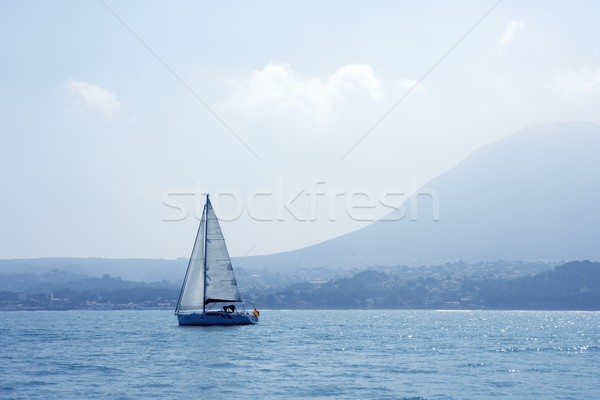 San Antonio Cape sailing sailboat in Denia Stock photo © lunamarina
