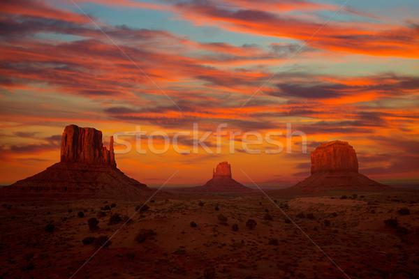 Valle tramonto muffole ovest cielo natura Foto d'archivio © lunamarina