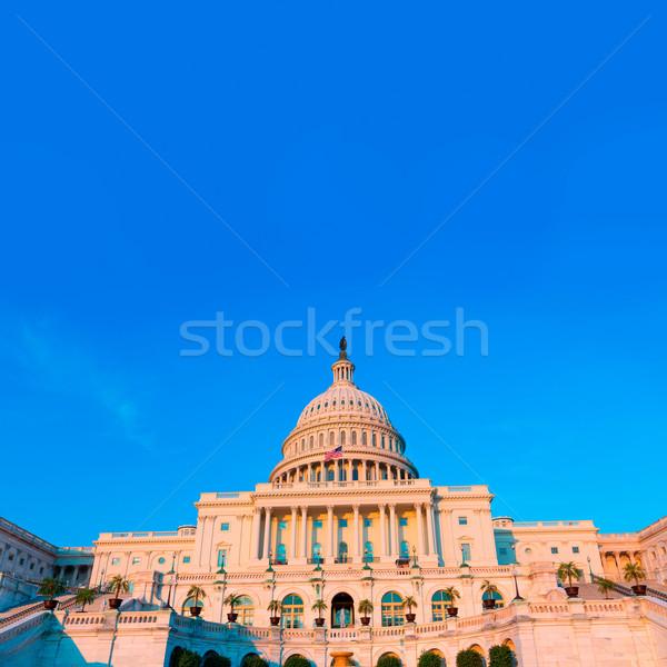 Costruzione Washington DC congresso luce del sole USA casa Foto d'archivio © lunamarina