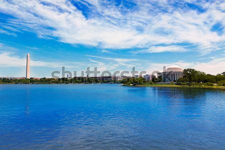 Thomas Jefferson and Washington memorial DC Stock photo © lunamarina