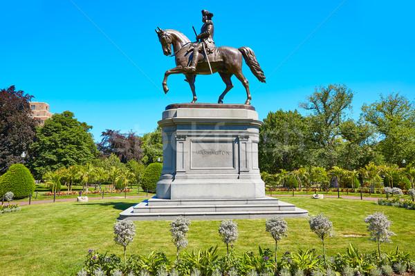 Бостон Монумент Вашингтона Массачусетс США цветы весны Сток-фото © lunamarina
