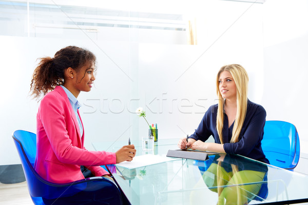 businesswomen interview meeting multi ethnic Stock photo © lunamarina