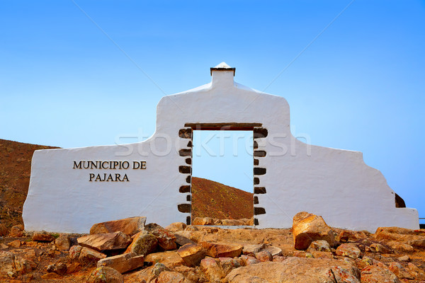 Pajara welcome monument sign Fuerteventura Stock photo © lunamarina