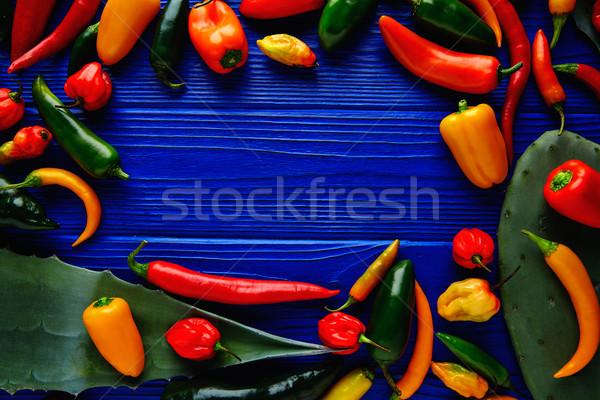 メキシコ料理 ホット カラフル セラーノ ストックフォト © lunamarina