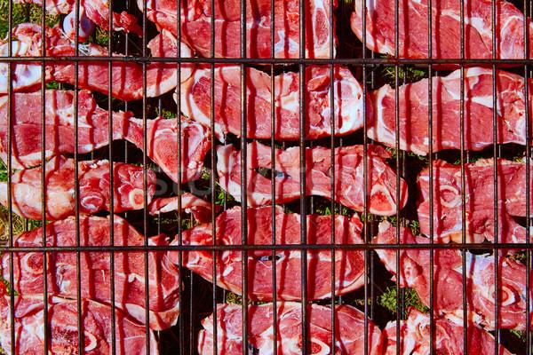 Cordero carne a la parrilla bar España alimentos Foto stock © lunamarina