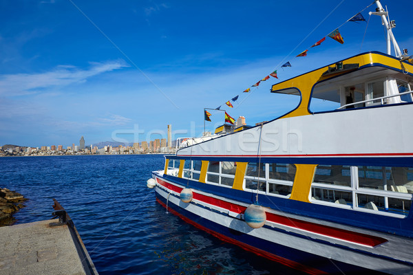 Benidorm Marina port in Alicante of Spain Stock photo © lunamarina