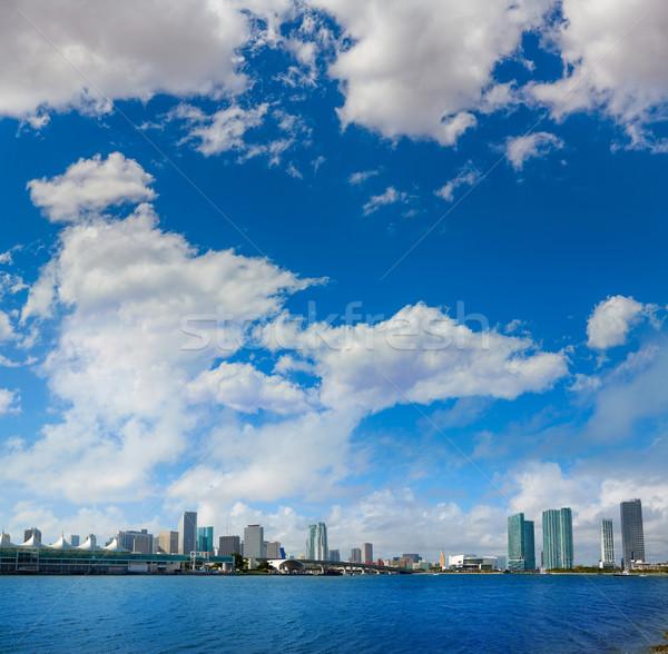 マイアミ タウン 晴れた スカイライン フロリダ 米国 ストックフォト © lunamarina