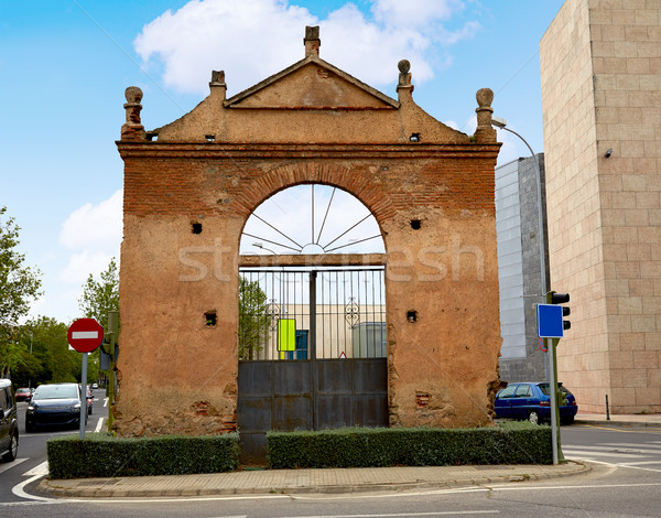 Caceres door at Av Hispanidad in Spain Stock photo © lunamarina