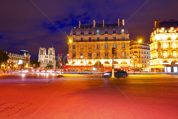 パリ 場所 日没 フランス ストックフォト © lunamarina