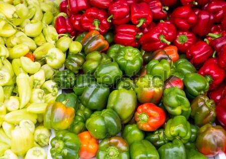 chili habanero hottest pepper in Mexico pattern Stock photo © lunamarina