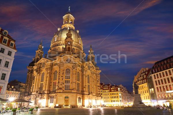 Dresda igreja Alemanha pôr do sol verão viajar Foto stock © lunamarina