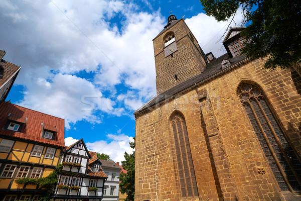 Германия город небе улице Церкви синий Сток-фото © lunamarina