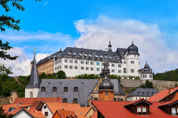 Dorp bergen Duitsland hemel stad zomer Stockfoto © lunamarina
