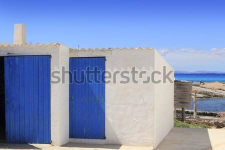 Es calo escalo Formentera white balearic architecture Stock photo © lunamarina