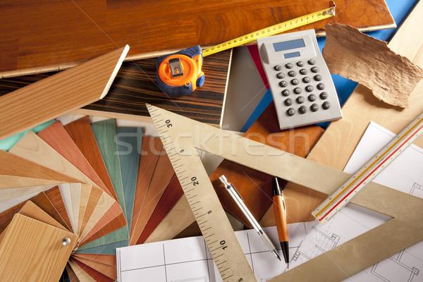 építész belsőépítész munkahely ács terv asztal Stock fotó © lunamarina