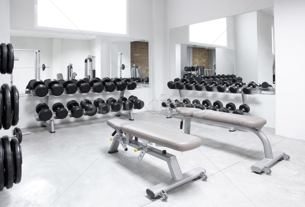 Foto stock: Fitness · club · gimnasio · moderna