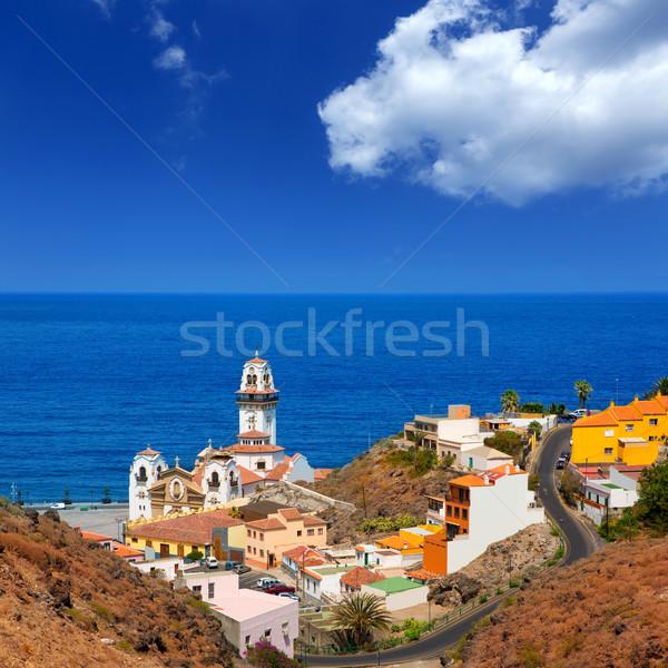 Bazylika kościoła plaży drogowego Zdjęcia stock © lunamarina