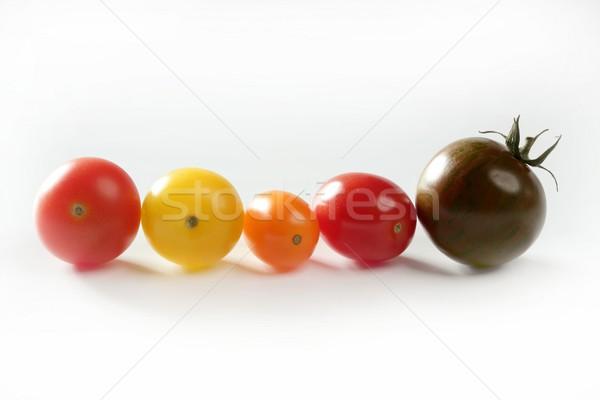 Little cherry varied multi color tomatoes Stock photo © lunamarina