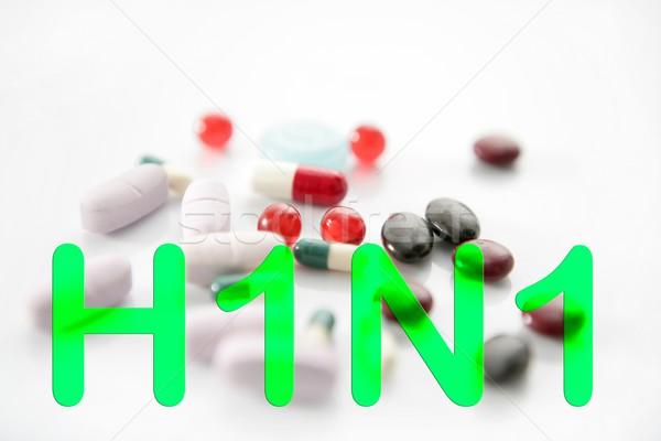 Medicina pastillas h1n1 tratamiento vacuna salud Foto stock © lunamarina