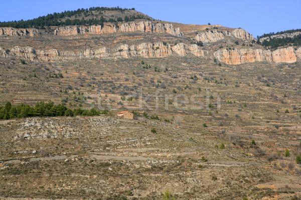 Peu maçonnerie pierre montagne Espagne nulle part Photo stock © lunamarina