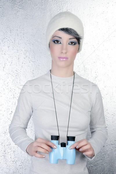 Сток-фото: футуристический · современных · моде · женщину · синий · зима