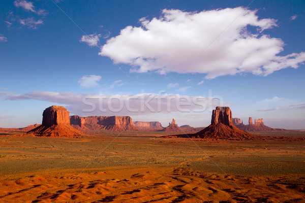 Monument Valley Mittens morning view Utah Stock photo © lunamarina