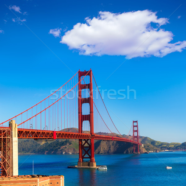 Foto stock: Golden · Gate · Bridge · San · Francisco · Califórnia · EUA · céu · cidade