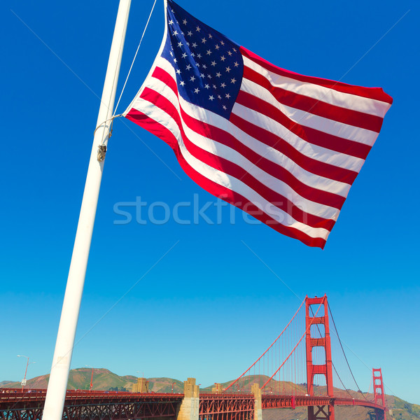 Golden Gate Bridge Stati Uniti bandiera San Francisco California USA Foto d'archivio © lunamarina