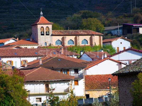 Oroz Betelu in Navarra Pyrenees of Spain Stock photo © lunamarina