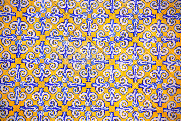 Valencia Mercado Central market tiles facade Spain Stock photo © lunamarina