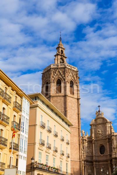 Valencia kathedraal la vierkante Spanje gebouw Stockfoto © lunamarina