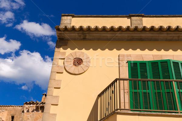 Barrio antiguo mallorca isla España edificio rock Foto stock © lunamarina
