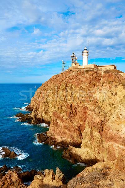 ストックフォト: 灯台 · スペイン · 地中海 · 海 · 水 · 建物