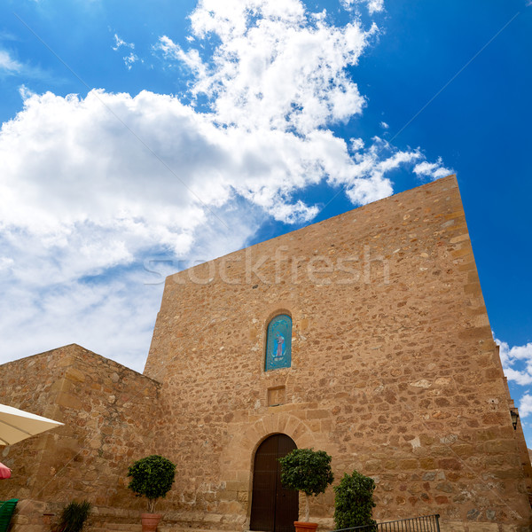 Mojacar Almeria Mediterranean church in Spain Stock photo © lunamarina