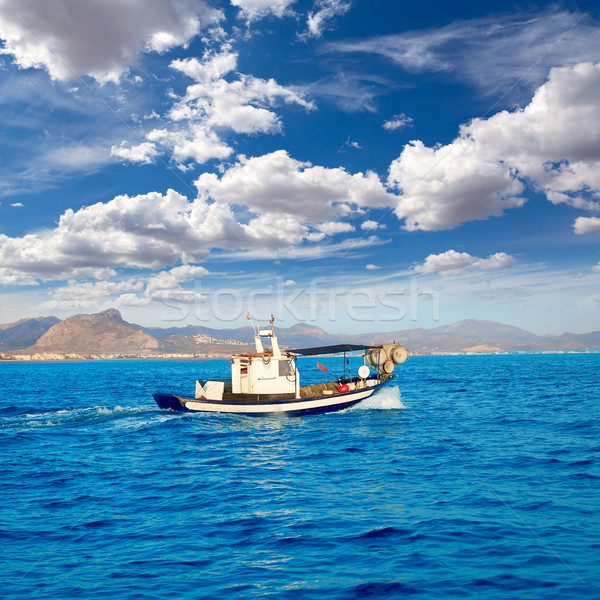 Denia fisherboat sailing Mediterranean sea Alicante Stock photo © lunamarina