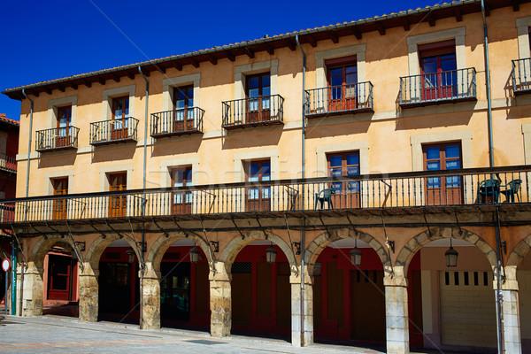 Stock photo: Leon Plaza Mayor in Way of Saint James Castilla