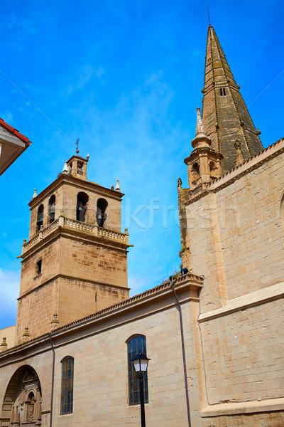 The Way of Saint James in Logrono Santa Maria Stock photo © lunamarina