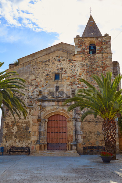 Aljucen church in Extremadura Spain Stock photo © lunamarina