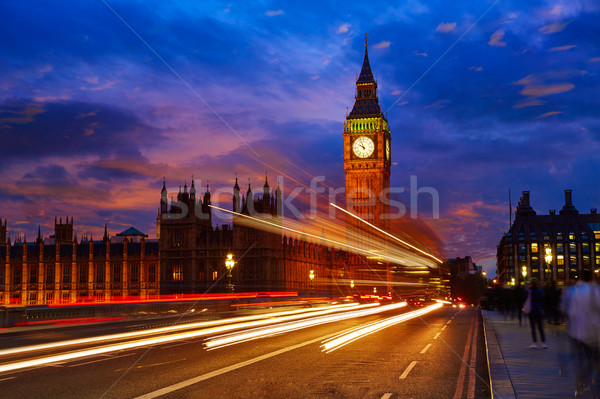 Big Ben Clock Tower in London England Stock photo © lunamarina