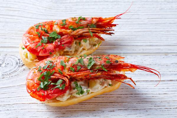 Camarão frutos do mar Espanha tapas receita comida Foto stock © lunamarina