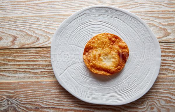 Tortilla modern gastronomi beyaz yemek Stok fotoğraf © lunamarina