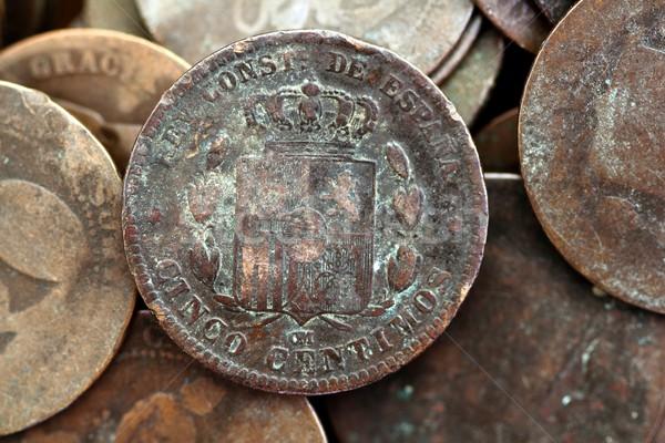 Moneda real edad España república moneda Foto stock © lunamarina
