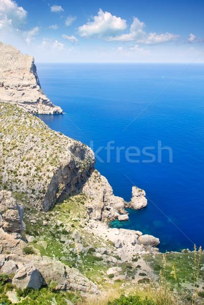 Formentor cape to Pollensa aerial sea view in Mallorca Stock photo © lunamarina
