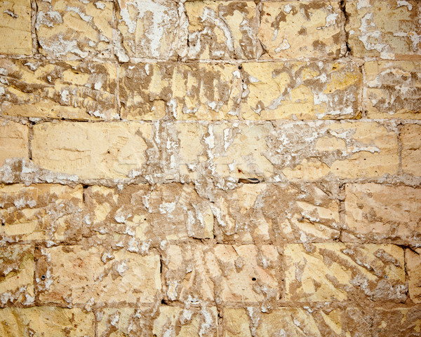 Stock photo: brick wall grunge scraped brickwall to restore