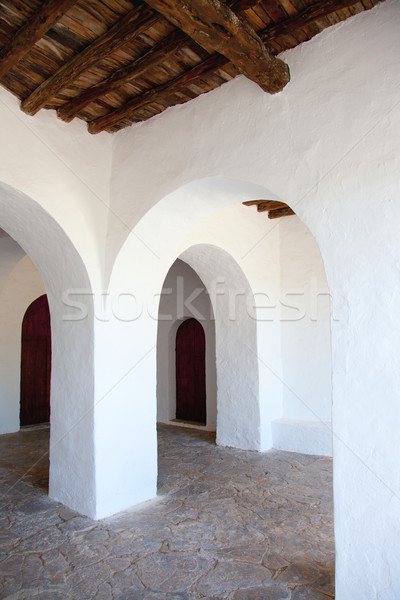 Blanco iglesia ciudad sol paisaje Foto stock © lunamarina