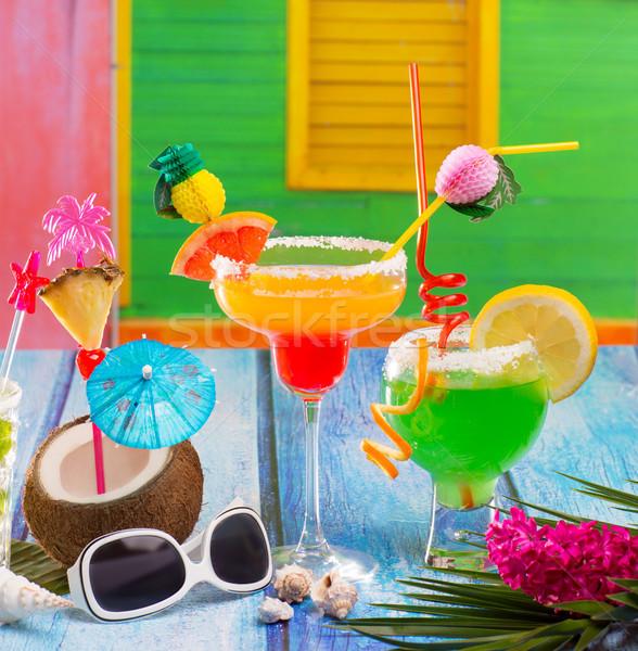Foto stock: Colorido · tropical · cocktails · caribbean · casa · coco