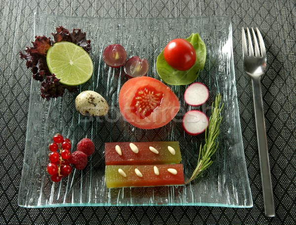 Varied salad with fruits, quince and vegetables Stock photo © lunamarina